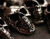 "Pewter Skull parts 1.06""x0.67""  20pcs"