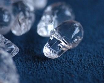 """crystal Skull  plastic parts 0.9""""x0.47""""  25 pcs"""