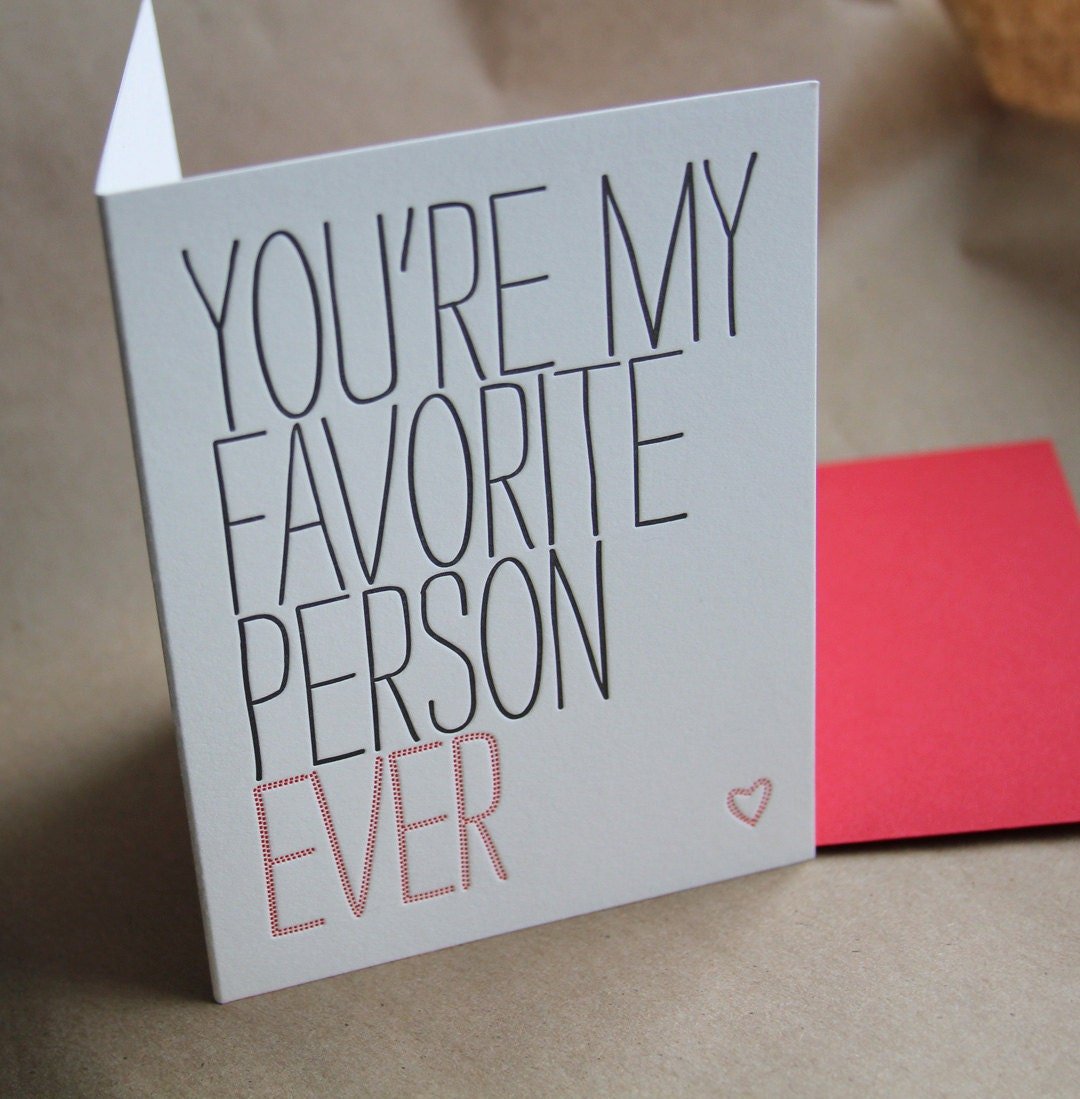 youre My Favourite Person Ever Greeting Card By Ellie