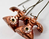 Copper Telephone Earrings