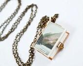 Vintage LakeLand Photo Book Necklace