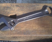 Hand forged spanner bottle opener tool