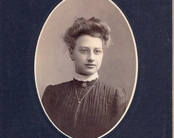 Successful Schoolteacher - Vintage Photo early 1900s - Sepia Real Photograph Mounted