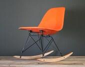 Eames Designed Herman Miller Rocker Shell Chair (RSR)