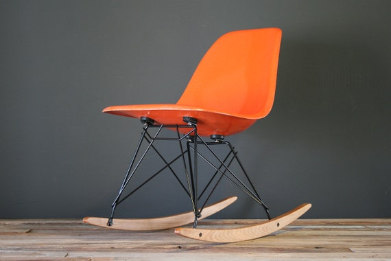 Eames Designed Herman Miller Rocker Shell Chair (RSR)