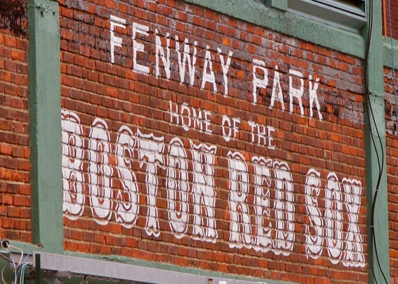 Items Similar To Boston Red Sox Fenway Park Photograph
