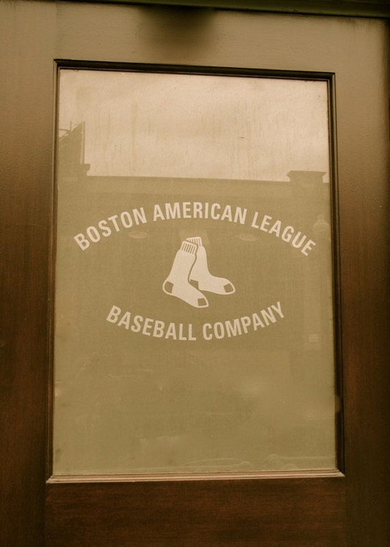 Boston Red Sox Baseball American League Fenway Door - 5x7 print matted to 8x10 ready to frame