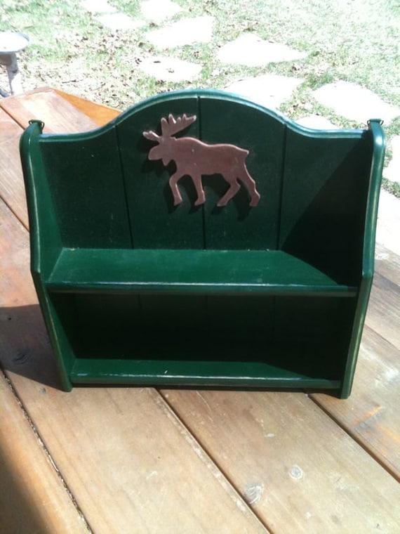 """Upcycled """"moose"""" cabin shelf"""