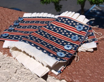 Women's Old Glory Fabric Wrist Cuff, Pleated was 25 now 15 dollars, teens, girls