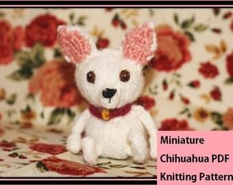 Miniature Chihuahua PDF Knitting Pattern