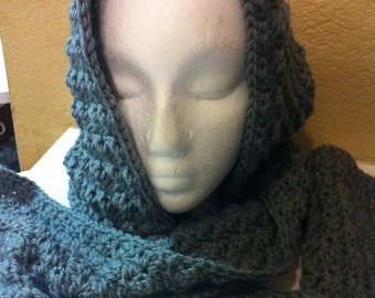 Crochet Scoodie ( Hooded Scarf) Large size  Hood