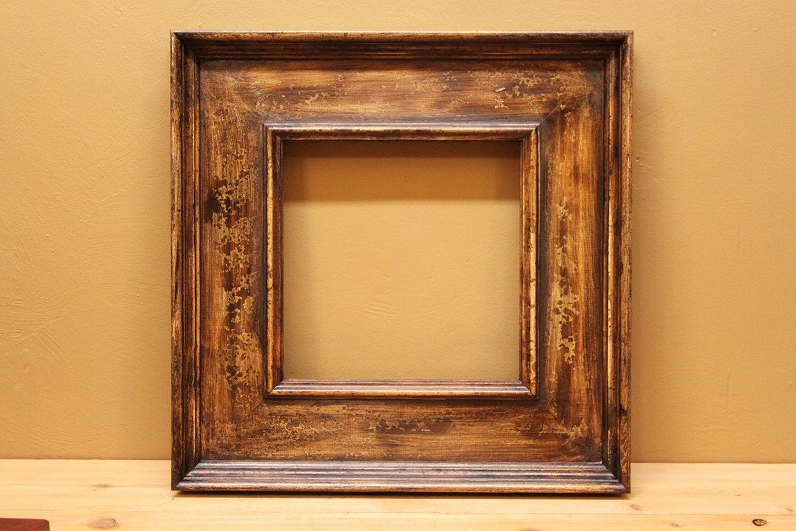 SALE Picture Frame Rustic Antique Style solid wood 12 x
