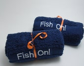 "Fishing Towel - ""Fish On"""