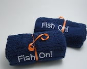 "2 Fishing Towels - ""Fish On"""