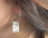 Vintage silver earrings made from Christ pendant ca. 1930's