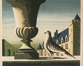 Original vintage travel poster for the chateaux of France