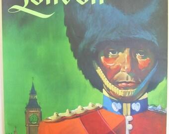 Original vintage TWA travel poster for London