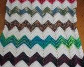 Crochet Ripple Afghan   Baby Afghan or Lap Blanket