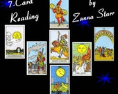 7 to 9 card Tarot Reading, Oracle Reading, PDF File Written Report, Tarot Card Reading, Oracle Card Reading, Career Relationships Life Plan