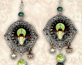 Fortune Teller Charm Earrings - Za Dee Da - The Flying Circus Collection - La Dame Fortune