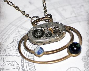 Astrology Steampunk Jewelry - Za Dee Da - The Mystic Seeker Collection -  Saturn Return