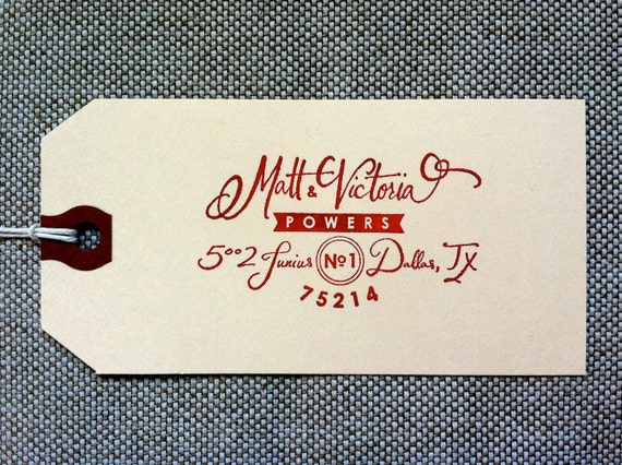 Custom Calligraphy 39 Retro 39 Return Address Stamp By