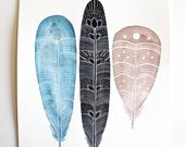 Watercolor Painting - Archival Print - Penelope Feathers