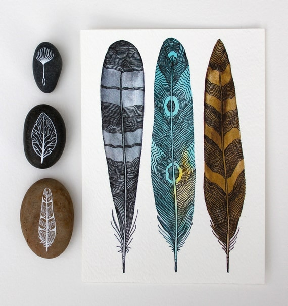 Driftwood Feathers - Archival Print