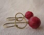 lantern earrings -- pomegranate
