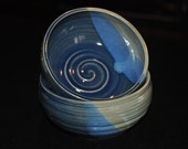 Stoneware Swirl Bowl