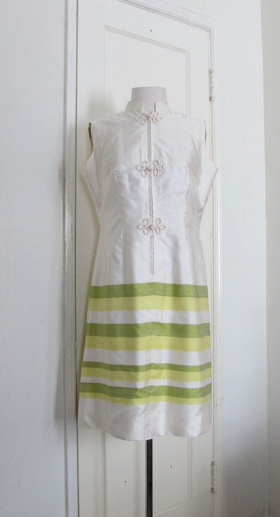 MOD Cocktail Dress - Thai Silk A Line Dress - US Size 8 or 10