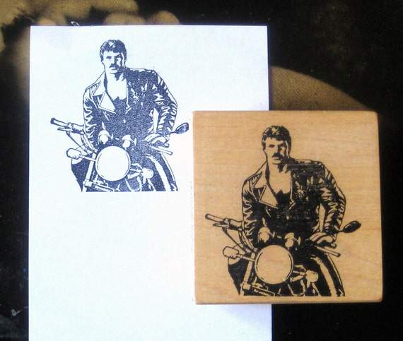 Vintage Tom of Finland rubber stamp by Alice in Rubberland RARE LAST ONE Leather Daddy Biker