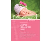 Cute Baby Christening Invitation