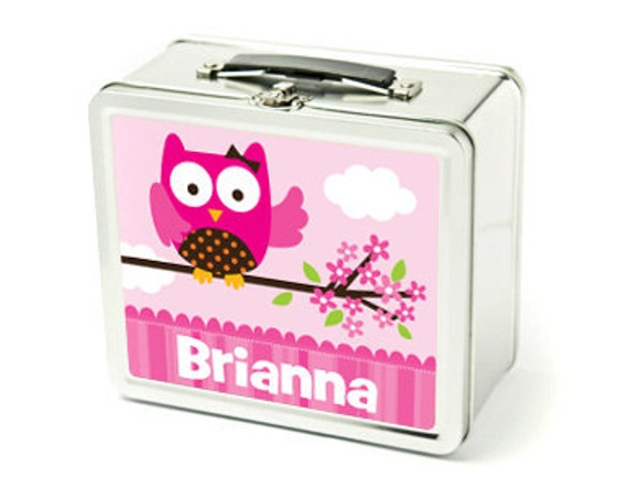 Girl's Personalized Lunch Box