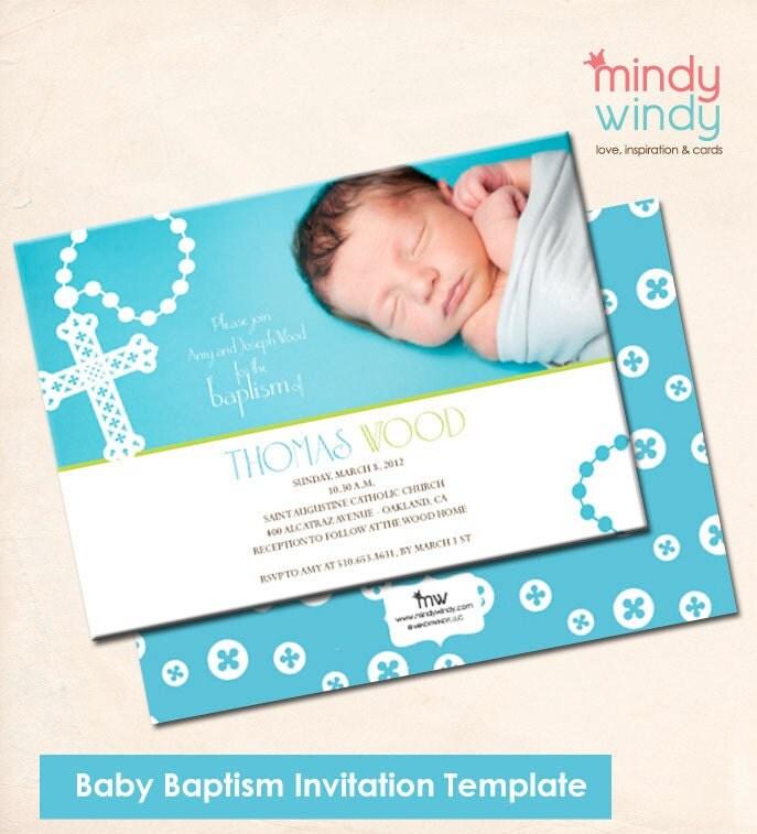 Baptismal Invitation Boy as nice invitation sample
