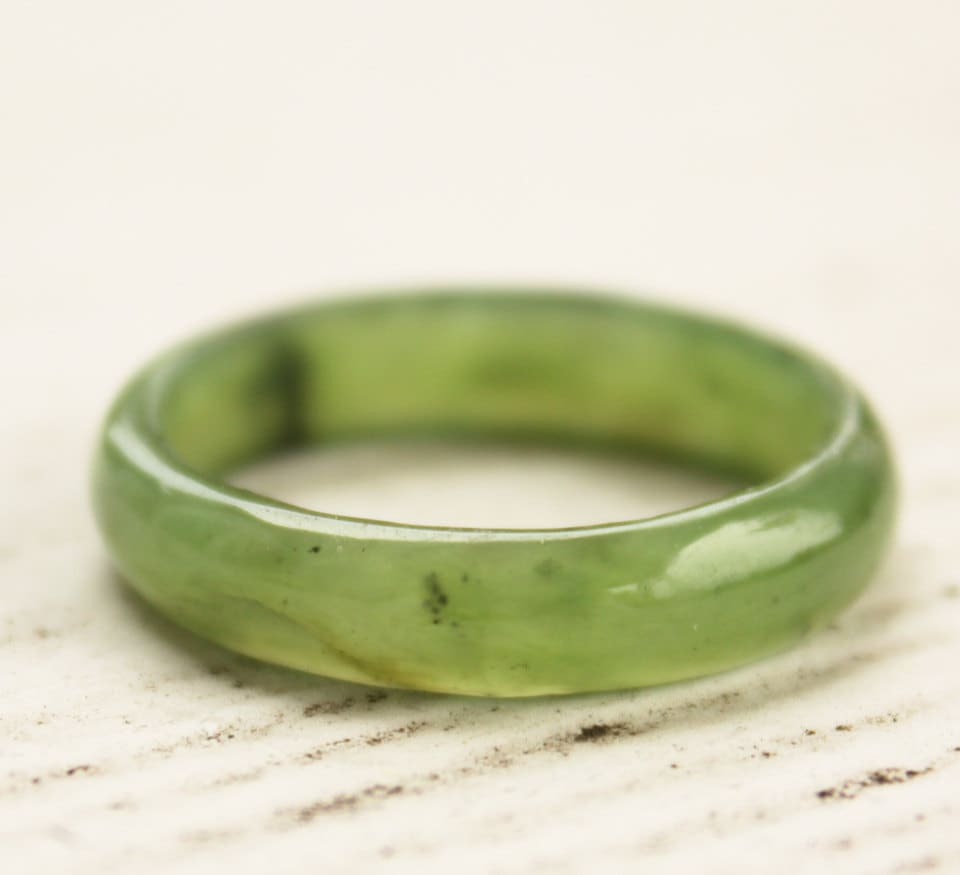 Jade Band Ring Nephrite Jade Thin Band