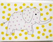 Elephants in Skirts, Two Seals and a Couple of Monkeys note card set. 6 cards and envelopes