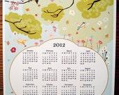 2012 Wall Calendar - Birds and Flowers