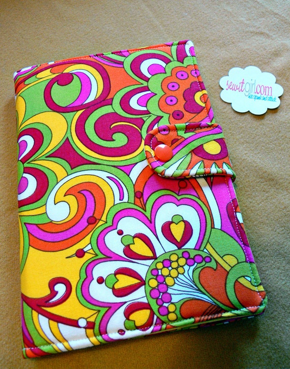 Kindle, Kindle fire, Nook Color/Tablet, E-reader cover, Book Style, Sunny Russian Floral , made to order LAST ONE, fabric retired