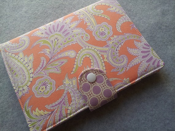 Reserved listing for bargan1 iPad Mini cover case  Amy Butler Turkish Paisley in Nectarine