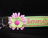 Lime and Hot Pink Key Fob