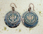 Copper Coin Earrings Antique Style