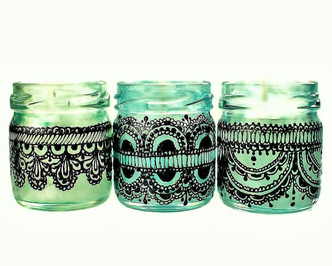 Mini Mason Jar Candles Gift for Her Boho Decor Candles