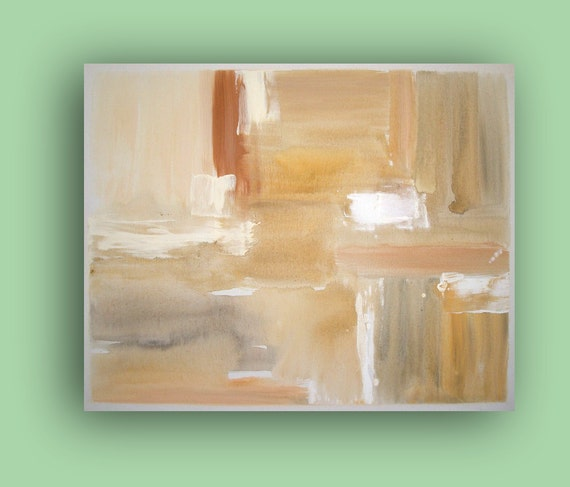 "Art Abstract Original Painting SANDS Fine Art on Gallery Canvas 24""x30""x1.5""By Ora Birenbaum"