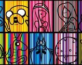 Adventure Time Stickers 10pk -- Stripey Goodness