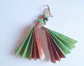 Origami Fan paper earrings