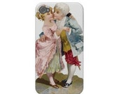 iPhone 4 Cover, iPhone 4s Case, iPhone 4 Hard Case, iPhone Case, iPhone case decoupage, vintage iPhone case - Victorian Kissing