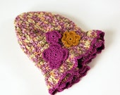 Made to Order Baby Girl Hat Crochet Flower Spring Photography Prop