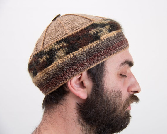 Unique Crochet Unisex Woolen Button-on-Top Hat