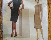 Classic Vogue Pattern 2660 Dress by Geoffrey Beene Sz 8,10, 12 2002